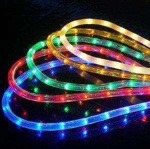 MCombo LED Rope Light 2-Wire 110V Lighting Outdoor Xmas Christmas Party Custom Length 50' 100' 150'