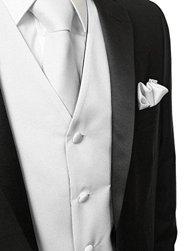 En Pour Me Mouchoir Cravate Gilets Suit Mariage Hommes Blanc Avec V¨ºtements Pi¨¨ces Veste De 3 7EZ44qwT