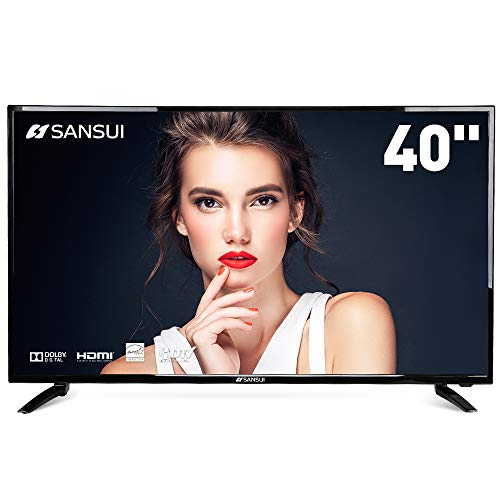 SANSUI TV LED Televisions 40'' FHD DLED TV (1080p) with Flat Screen TV HDMI High Definition and Widescreen Monitor Display 3 x HDMI Ports (2018 Model) -