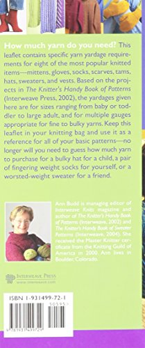 Interweave Press The Knitter's Handy Guide To Yarn Requirements 499721 by Interweave Press (Image #2)
