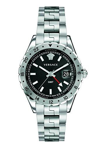 Versace Men's 'HELLENYIUM GMT' Swiss Quartz Stainless Steel Casual Watch (Model: - Versace Men Top