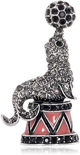 FOPUYTQABG Brosche Schal Pin Schmuck Exquisite Fashion Style Mode Legierung Diamond Sea Lion Retro Sn