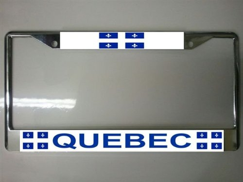 Quebec Canada License Plate Frame Free Screw Caps with for sale  Delivered anywhere in USA