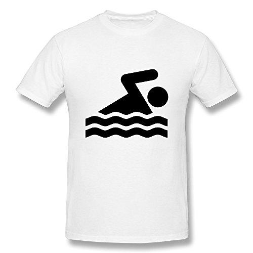 CHADLAVIGNE 100% Cotton Men's Swimming T-shirt