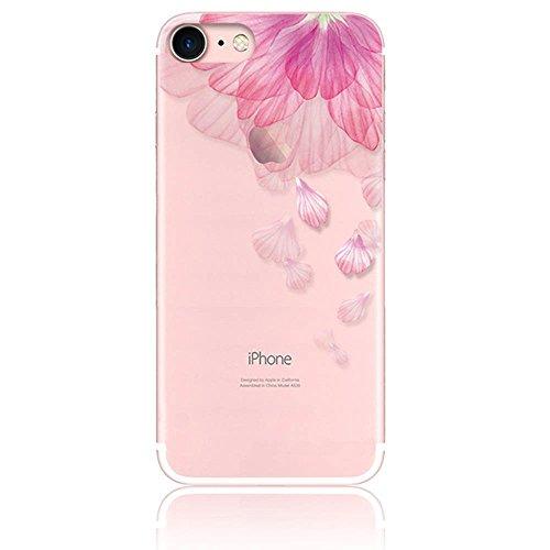 IPhonese iPhone5 iPhone5s tpu 케이스 CrazyLemon 평면 일체형 소프트 TPU 실리콘 아이폰 se 아이폰 5 5s 케이스 핑크 꽃 꽃잎 모양의 클리어 투명 귀여운 유행에 맞는 좋은 충격 저항 防? / iPhonese iPhone5 iPhone5s tpu case CrazyLemon Thin I...