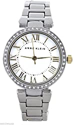 Anne Klein Women's MOP Dial Silver-Tone Bracelet Analog Watch AK/1711MPTT