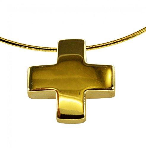 Omega-Collier avec pendentif croix moderne-50cm-333or jaune
