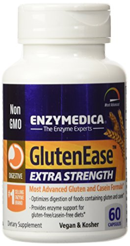 Enzymedica - GlutenEase Extra Strength, Complete Gluten & Casein Formula with Digestive Enzymes + DPP-IV, 60 Capsules (FFP) by Enzymedica (Image #1)