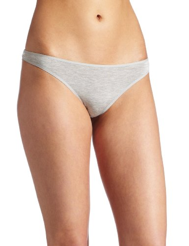- Le Mystere Heather Thong Panty, Gray, X-Large