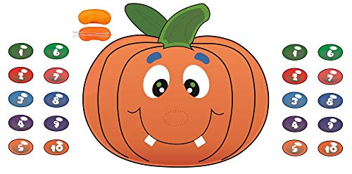 Pin The Nose on The Pumpkin Game Halloween Party Favors Halloween Game Halloween Decorations -