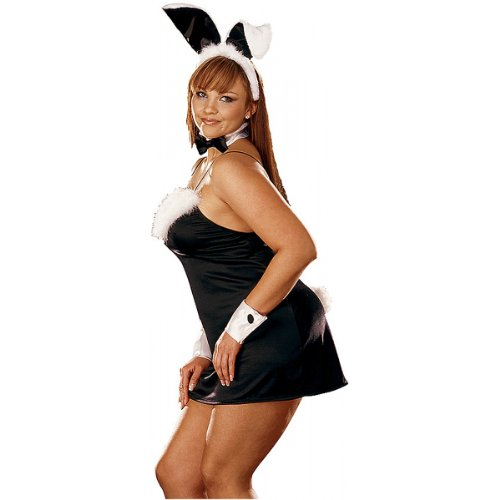 Playboy Bunny Costume Plus Size (Plus Size Bunny Adult Thumper Costume)