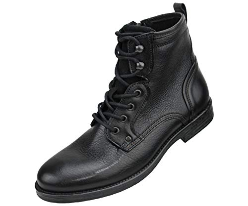 - Asher Green Genuine Leather Hand Crafted Lace Up Boots Black