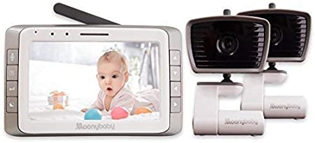 bater/ía de larga duraci/ón Talk Back sin WiFi largo alcance moonybaby Vigilabeb/és con video con pantalla grande de 5de Moonybaby visi/ón nocturna autom/ática Moonybaby Trust 50