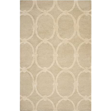 Candice Olson By Surya Modern Classics CAN 1989 Contemporary Hand Tufted 100 New Zealand Wool Taupe 2 6 X 8 Geometric Runner