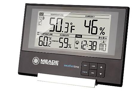 Meade Instruments te256 W Slim Line Personal estación meteorológica con reloj atómico por Meade: Amazon.es: Hogar
