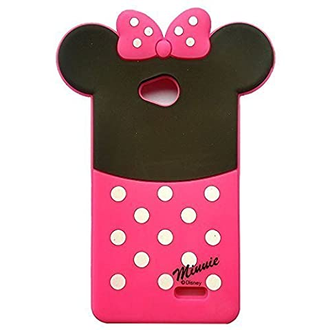 LS620 Minne Silicone Case,LS620 Animal Case,WGOOD Cute Animal Polka Dots Minne Mouse Soft Silicone Gel Rubber Protection Skin Case Cover for LG Realm (Disney Lg Realm Cases)
