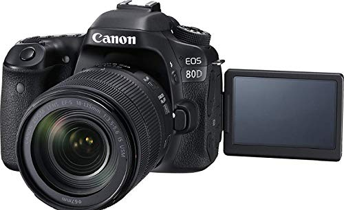 Canon Digital SLR Camera Body [EOS 80D] and EF-S 18-135mm f/3.5-5.6 Image Stabilization USM Lens...