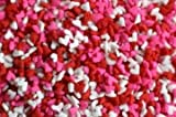 valentines baking sprinkles - Mini Red White and Pink Heart Sprinkles