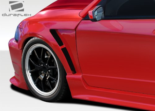 Duraflex ED-XLI-487 CBR500 Wide Body Front Fenders - 2 Piece Body Kit - Compatible For Ford Mustang 1999-2004