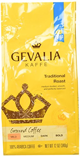 Gevalia, Kaffe, Traditional Roast, Ground Coffee, 12oz Bag (Pack of 2) ()