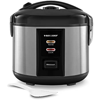 BLACK+DECKER RC1412S 6-Cup Dry/12-Cup Cooked Rice Cooker, Silver