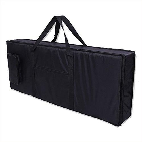 61 Key Electronic Keyboard Bag Black Case Oxford Travel Bag - 1