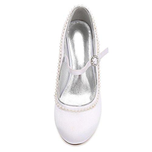 Faible De Femmes Moyen D'Honneur Demoiselle D'âGe Chaussures Chaton red L YC Mariage avec F17061 Diamant Personnalisé artificiel Mousseux 56 wtq7xBB5W6