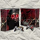 Fallout XBOX 360 Slim Skin Set -Console with 2 Controllers