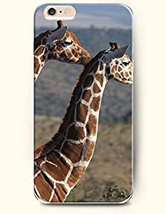 iPhone 6 Plus Case 5.5 Inches Two Hungry Giraffes - Hard Back Plastic Case OOFIT Authentic
