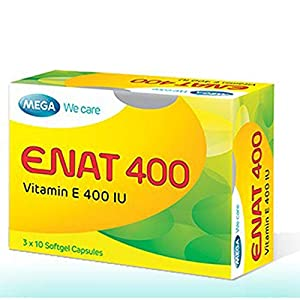 ENAT 400 – Vitamin E 400 IU – Antioxidant & Free Radical Scavenger- Ship USPS 7-10days