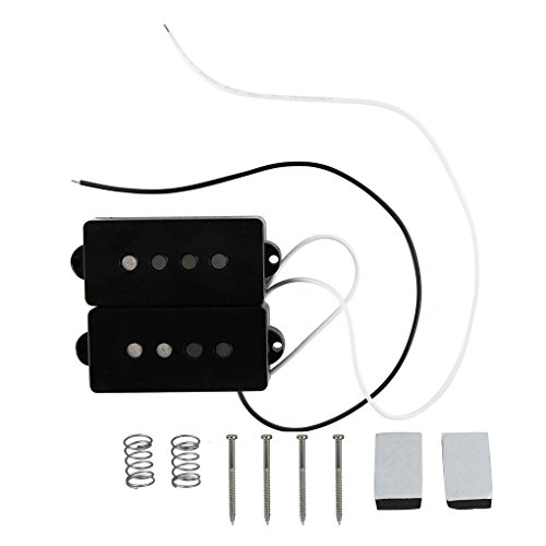 FLEOR Alnico V PB P Bass Pickup Humbucker Pickup for 4 String P Bass Replacement, Black