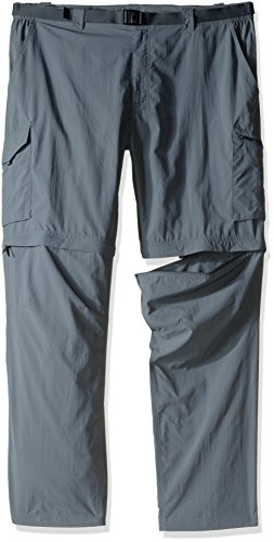 Columbia Men's Silver Ridge Convertible Pants, Grey Ash, Size 54 x 34