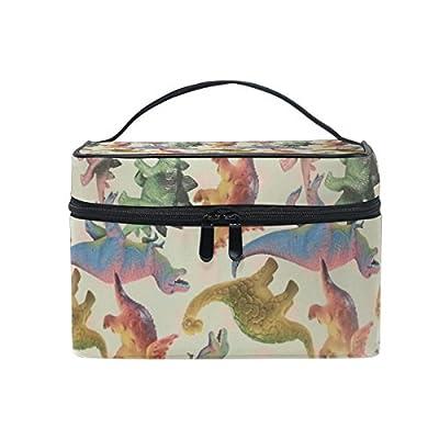 c71e8be91047 GIOVANIOR Cute Dinosaur Print Large Cosmetic Bag Travel Makeup Organizer  Case Holder for Women Girls 70