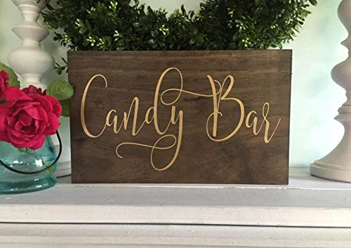 Derles Letrero de Madera Candy Bar - Cartel de Caramelo ...