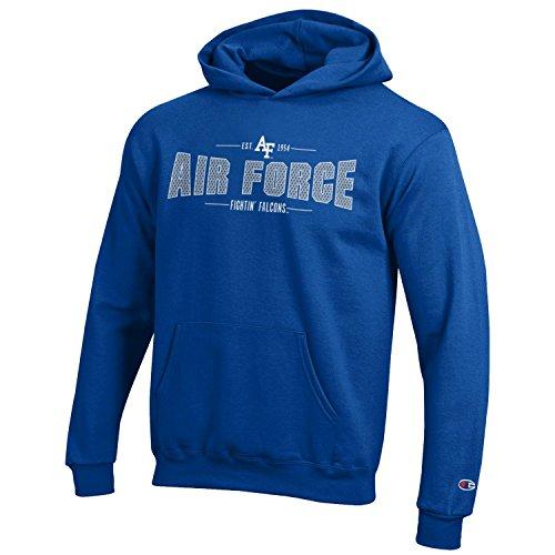 Champion NCAA Youth Long Sleeve Fleece Hoodie Boy's Collegiate Sweatshirt Air Force Falcons Medium