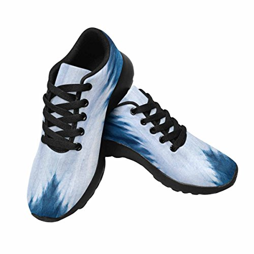 Scarpe Da Corsa Da Donna Running Running Jogging Leggero Easy Running Comfort Sport Scarpe Da Corsa A Forma Di Cuore, Indaco Tie Dye Pattern Multi 1