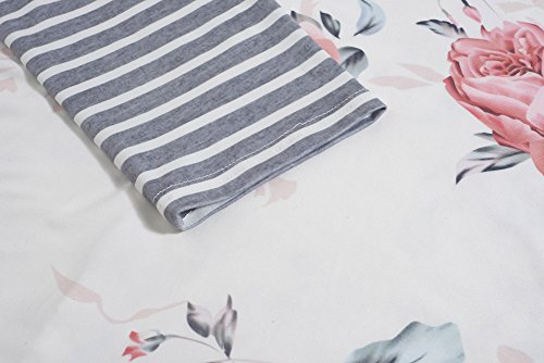 Longwu Mujeres camiseta de manga larga informal suelta camiseta Midi Vestido Blanco
