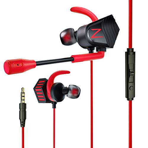 Leoy88 in-Ear Wired Dual Drivers 3.5MM Earphone Bass Sport Headphone Earbuds with Mic Ultra-Light Sport Microphone