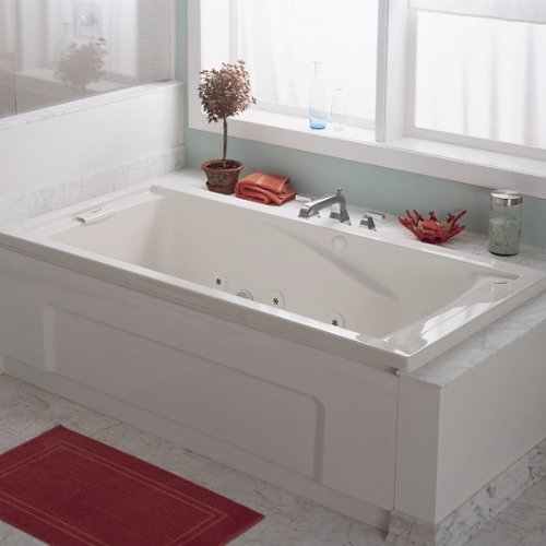 033056681848 - American Standard 7236VC.020 Evolution Deep Soak Whirlpool Bath Tub with EverClean and Hydro Massage System I, White, 6-Feet by 36-Inch carousel main 2