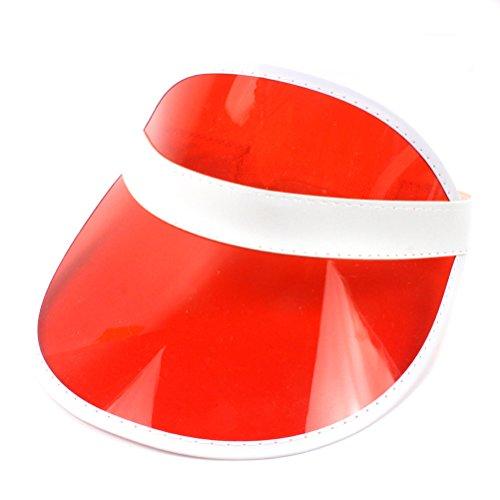ViewHuge - Sombreros de Visera vacíos de plástico PVC Transparente Color  Caramelo para Sombrero de Sol de Bicicleta 8cb2c826a14