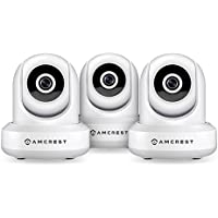 3-Pack Amcrest HDSeries 720P WiFi Wireless IP Security Surveillance Camera System IPM-721 (White)