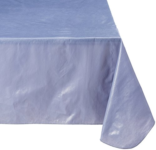 Polyester Lined Vinyl Cover (Carnation Home Fashions Vinyl Tablecloth with Polyester Flannel Backing, 52-Inch, by 90-Inch, Slate)