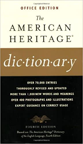 First Edition The American Heritage Thesaurus