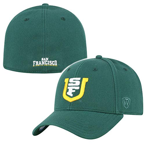 (University of San Francisco USF Dons Flex Fit Hat - Forest Green)