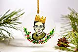 The Notorious RBG Christmas Ornament Ruth Bader Ginsburg Ornament Girl Power Personalized Custom Box Included