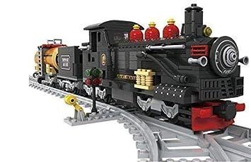 Negro Set De Tren Carbón Coche & Coche Del Aceite Clásico Motor De Vapor 10pcs Ejes