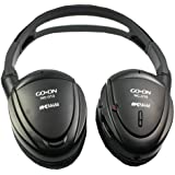 Flat Acoustic Noise Noise Canceling On-ear Headphones with Case and Dual Plug Adaptor