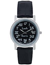 LUCH Analog Quartz Movement Leather Band Girls Wristwatch