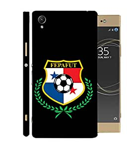 ColorKing Football Panama 09 Black shell case cover for Sony Xperia XA1 Plus