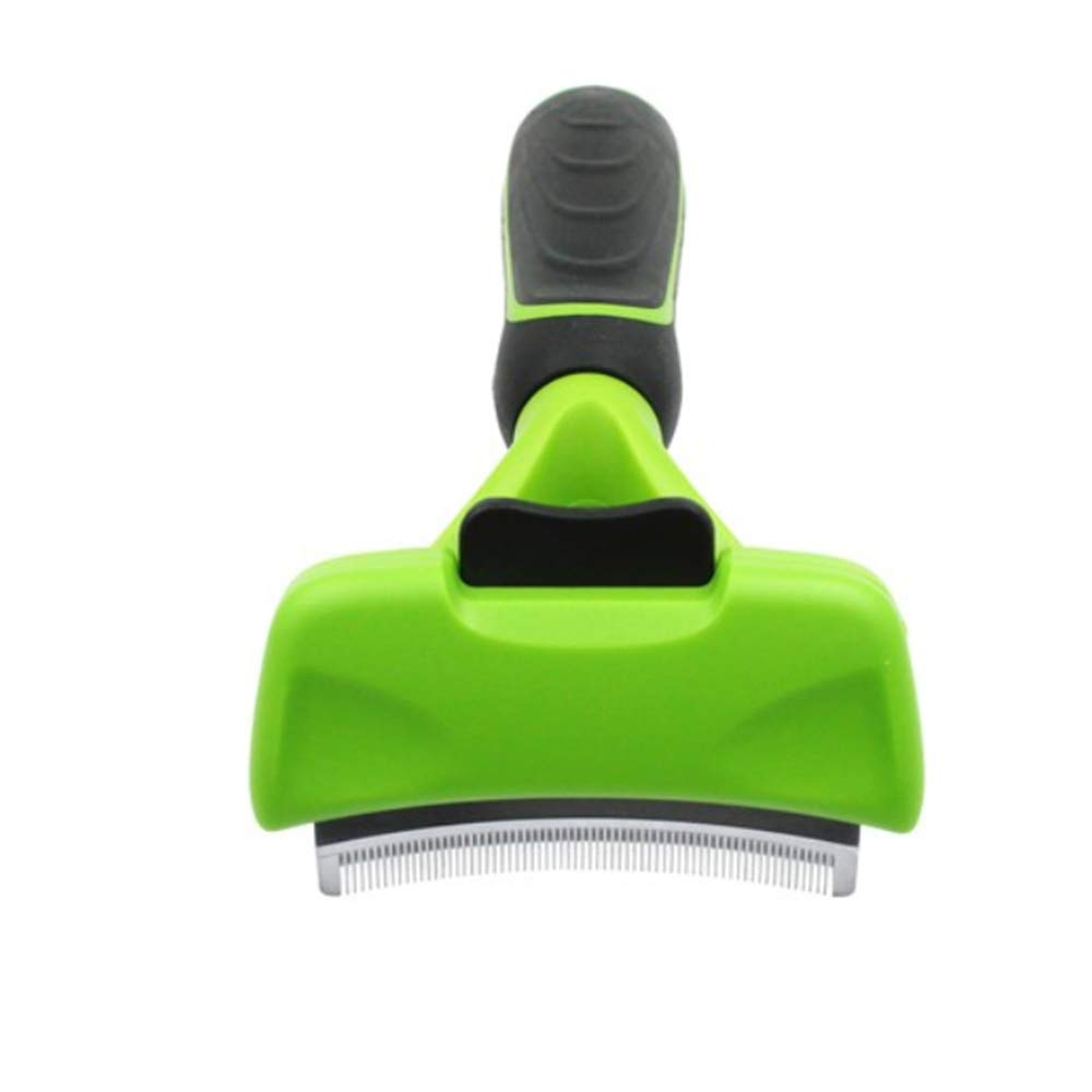 &liyanan Pet Hair Removal Comb, Pet Knotted Open Knot Comb, Pet Hair Remover Dog Cat Brush Grooming Tools, Pet Supply Detachable Clipper(Color: Green + Black),M